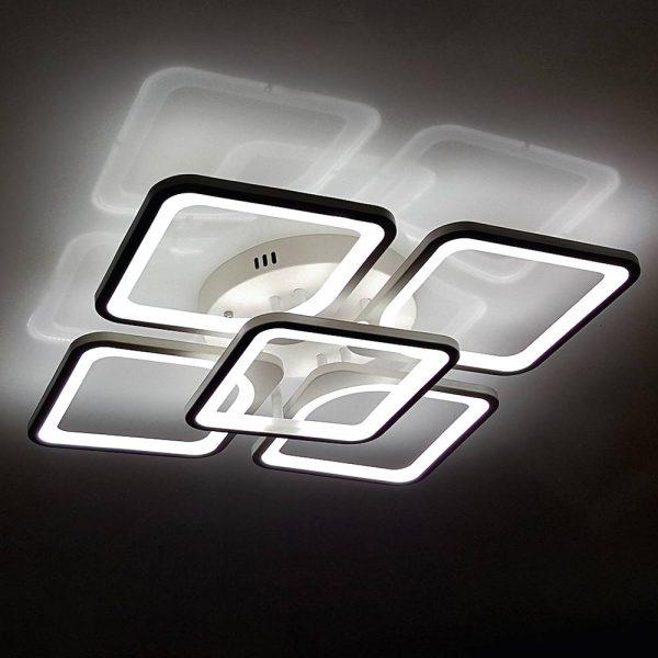 Квадратная светодиодная люстра фото