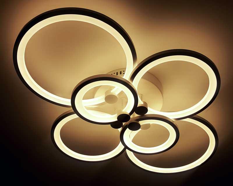LED люстра потолочная с пультом фото