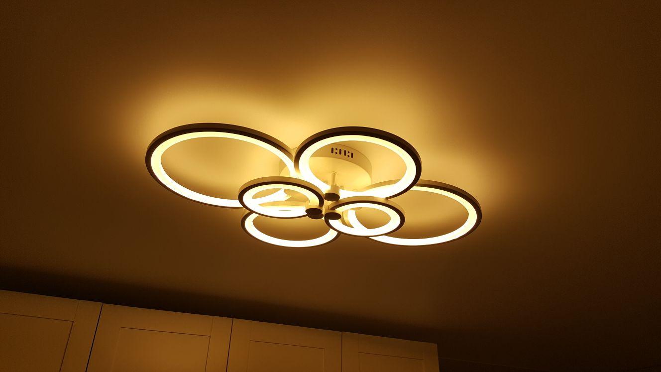 Светодиодная люстра для гостиной фото