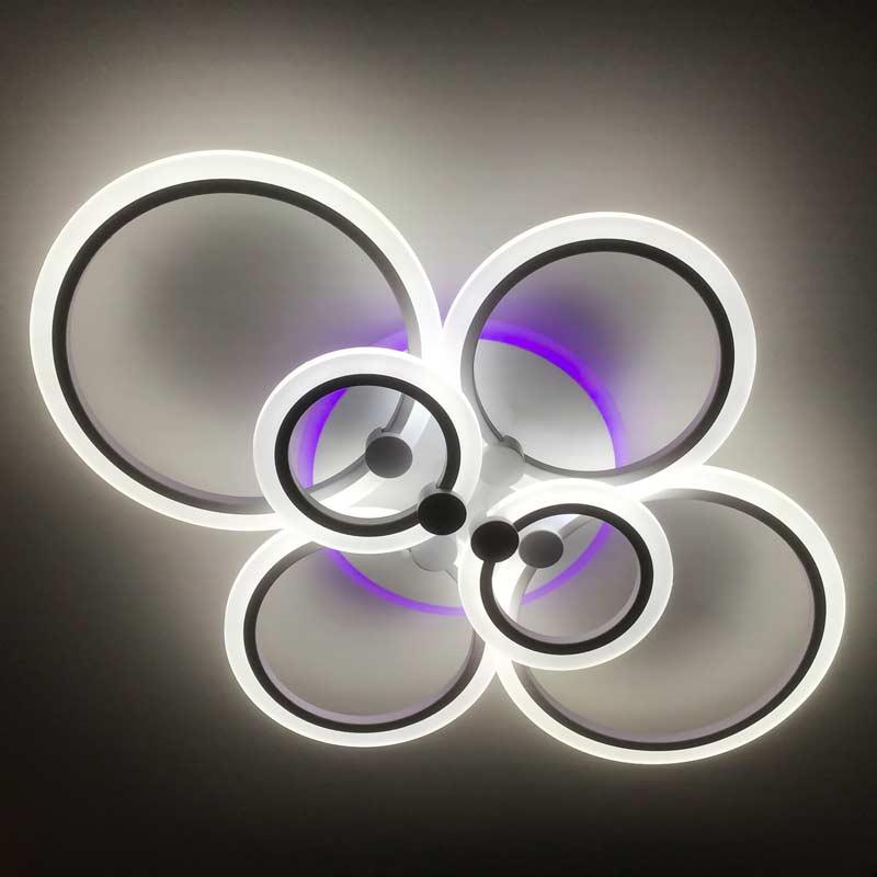 Люстра Outer Rings с подсветкой фото