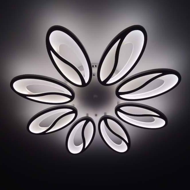Flowers Лед люстра цветки с пультом фото