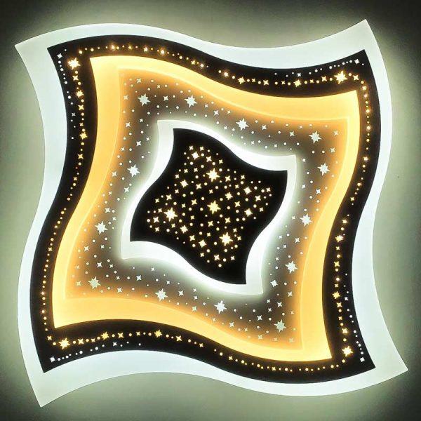 Люстра светодиодная geometry-curved-со звездами фото