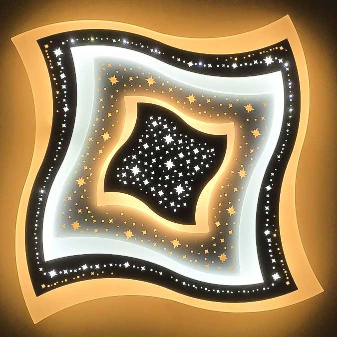 Люстра светодиодная geometry-curved-со звездами фото 3