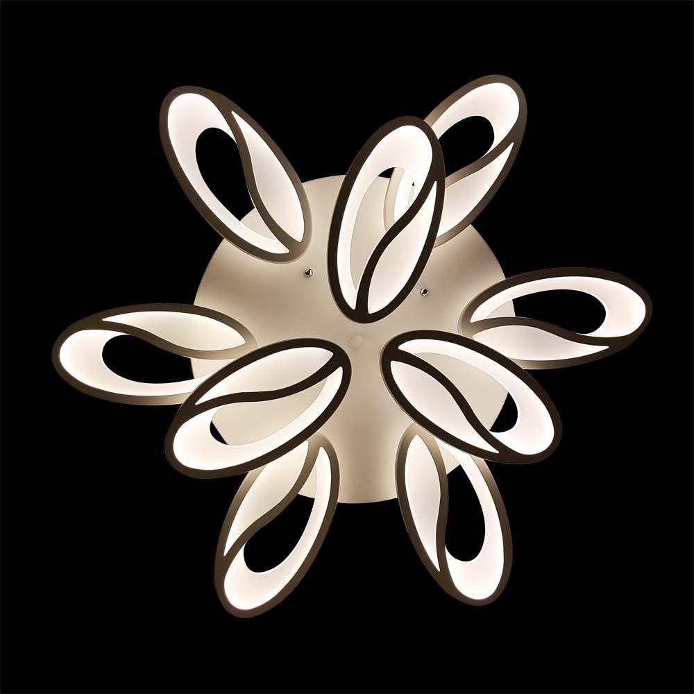 Люстра с пультом в форме цветка фото