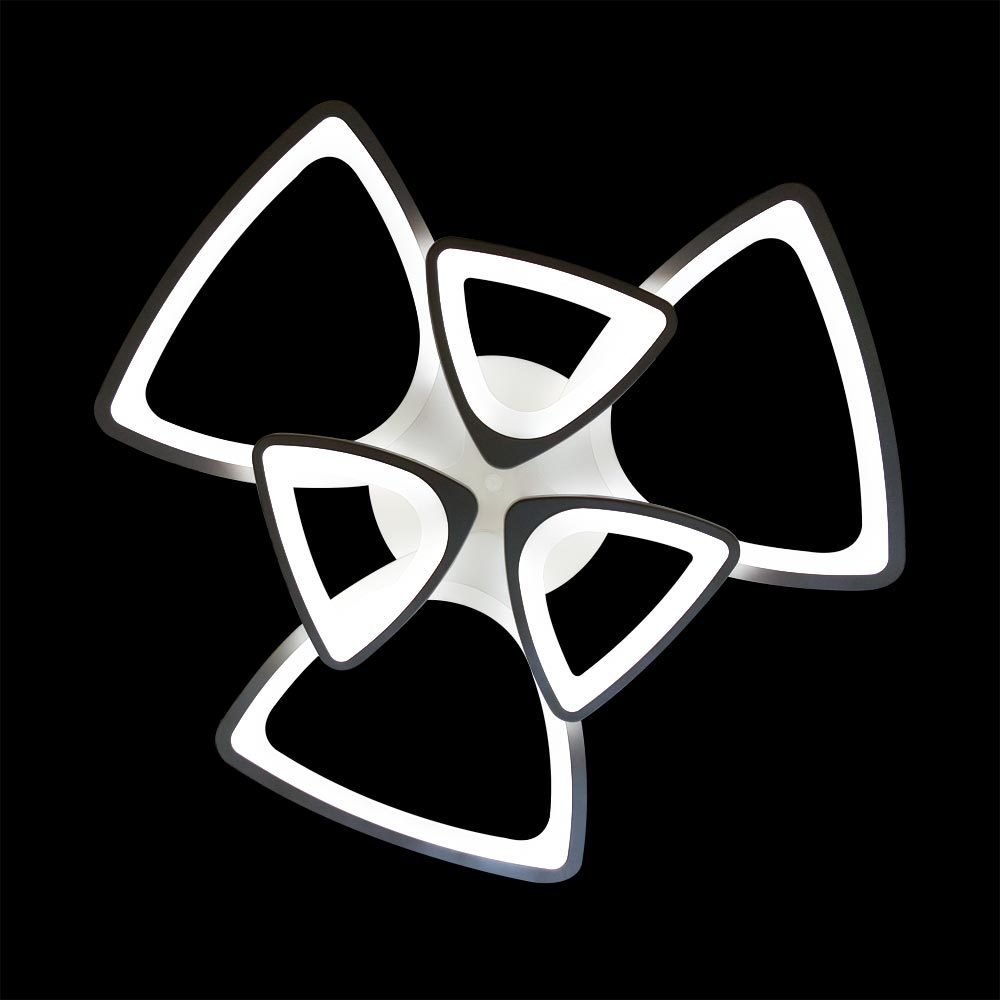 Люстра в форме треугольников фото