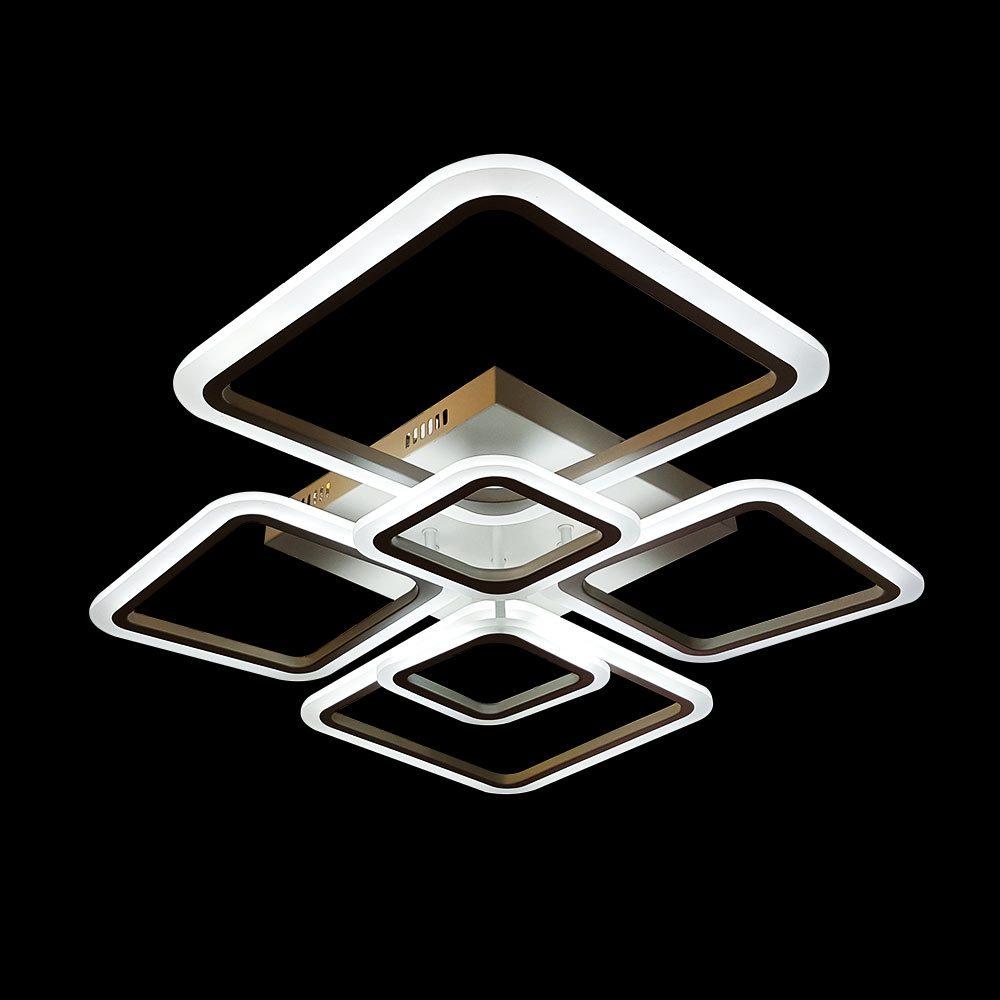 Диодная люстра в форме 6 квадратов фото