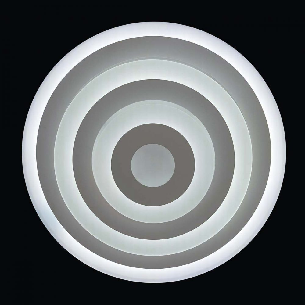Круглая люстра с пультом фото