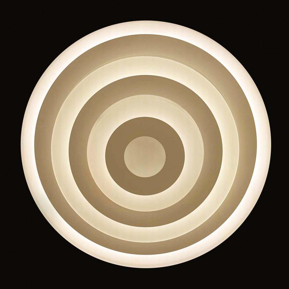 Люстра круглая плоская диодная фото