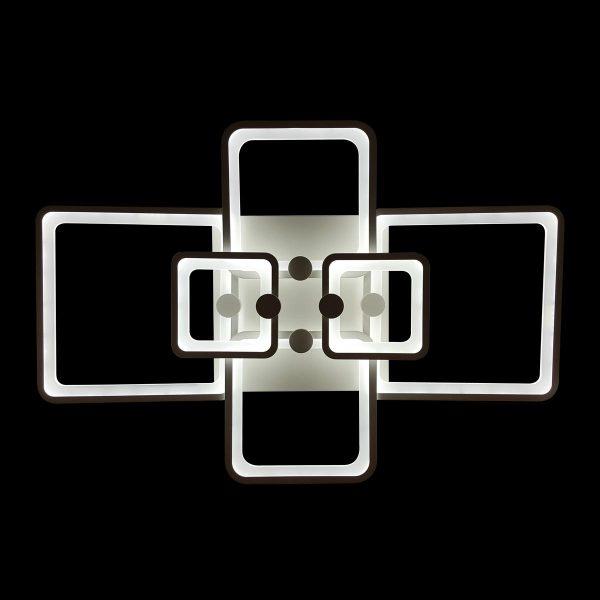 Люстра с пультом прямоугольная фото