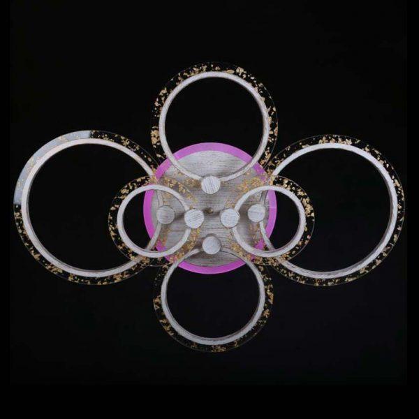 Люстра светодиодная стеклянные кольца Rings 6 фото