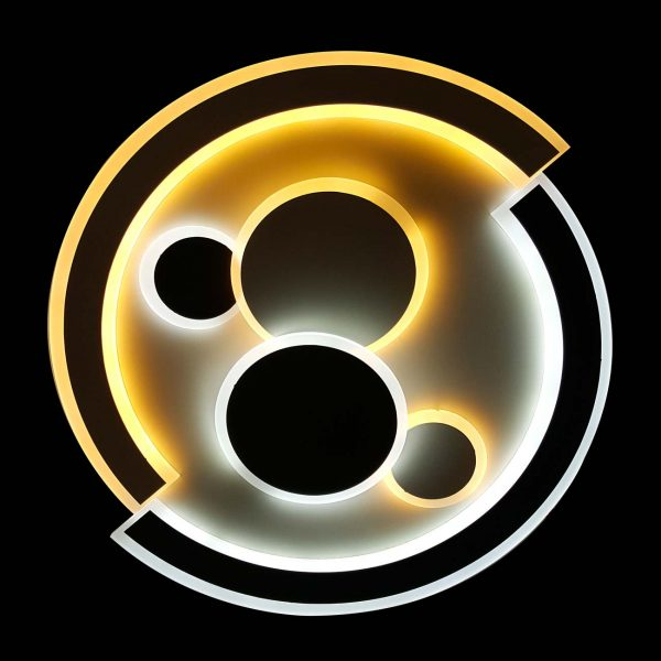 Диодная круглая люстра для дома planets фото