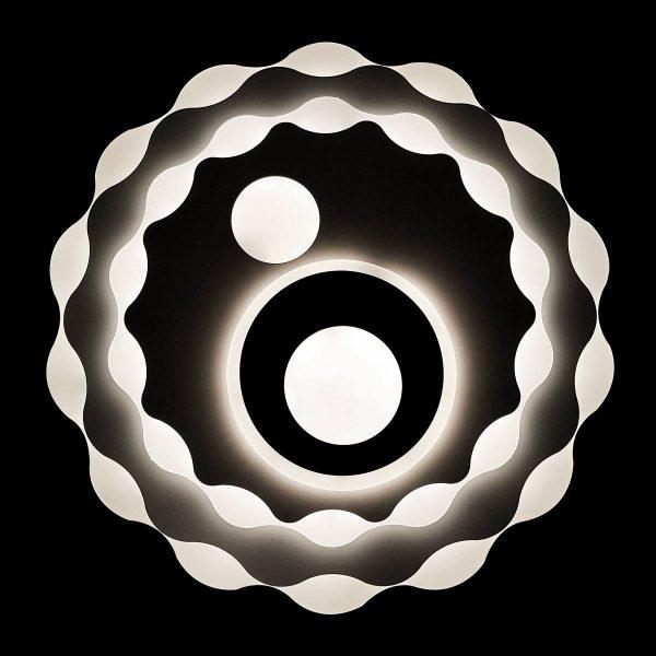 Люстра диодная с пультом в форме солнца фото