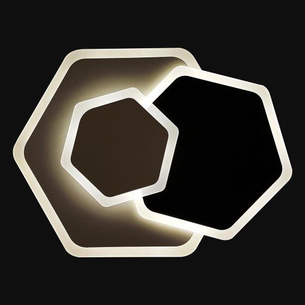 Люстра с пультом шестиугольник фото