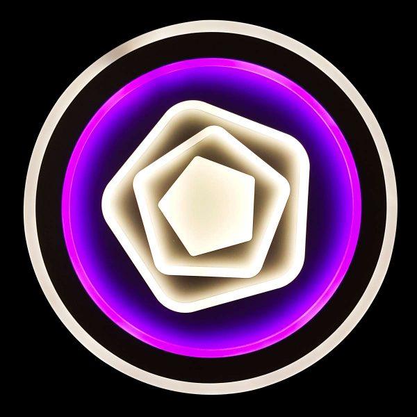 Люстра LED с фиолетовой подсветкой Laguna фото