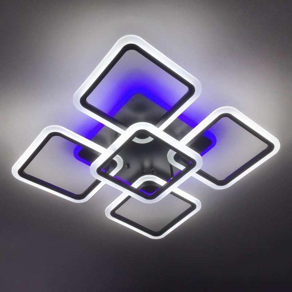 Люстра светодиодная outer-squares5 черный цвет фото