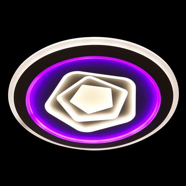 Светодиодная люстра с фиолетовой подсветкой фото