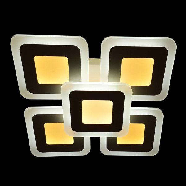 Светодиодная лююстра в форме квадратов squares-2 фото