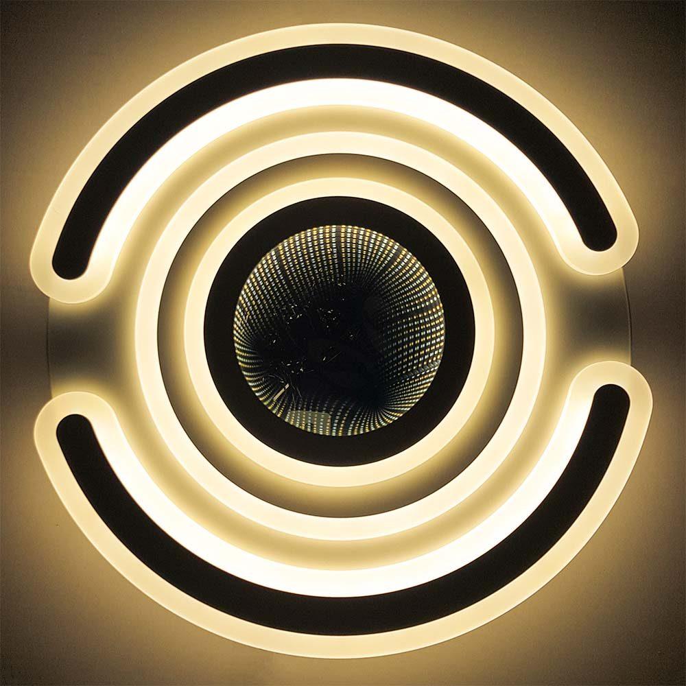 Футуристическая люстра с пультом фото