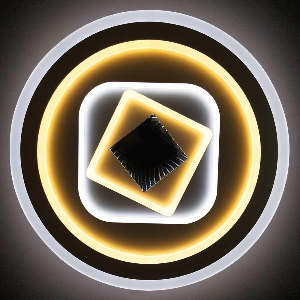 Круглая диодная 3D люстра с пультом Onaero фото