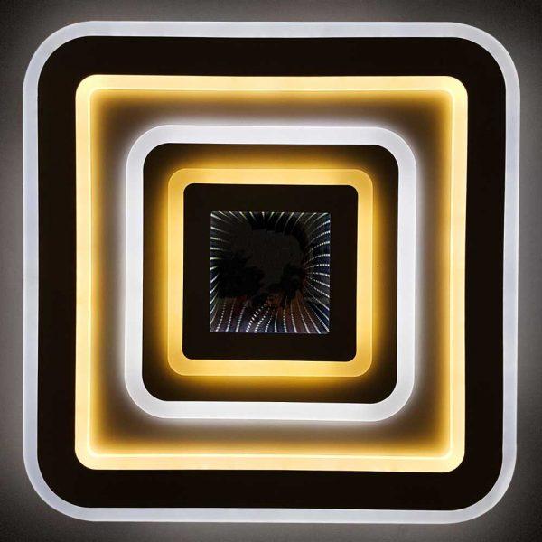 квадратная люстра на пульте led фото