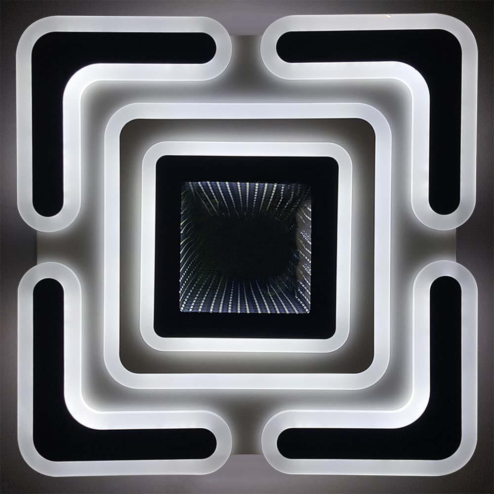 Люстра квадратная светодиодная с пультом Nova фото
