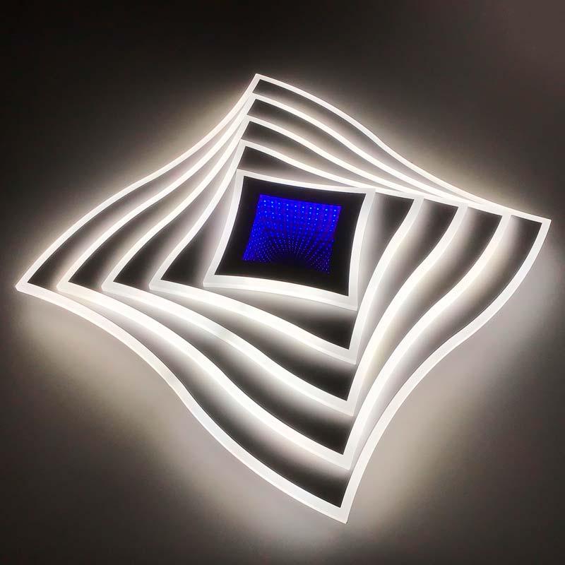 Люстра лед геометрия mist-curved-3D фото