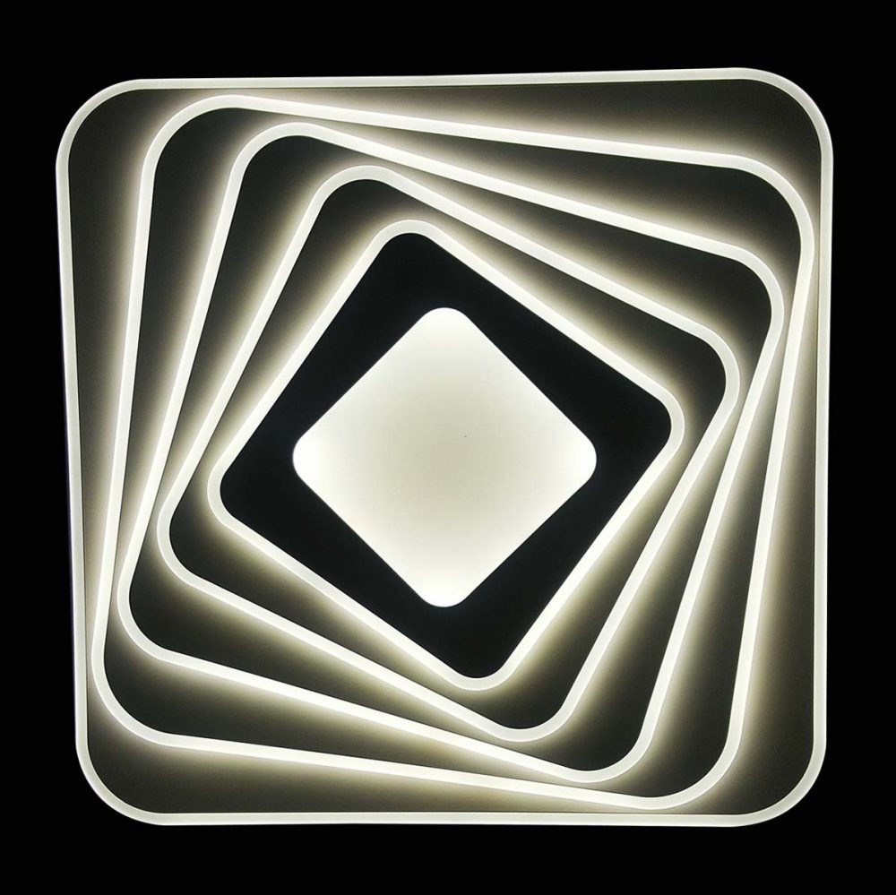 Люстра светодиодная геометрия с пультом Perfection фото