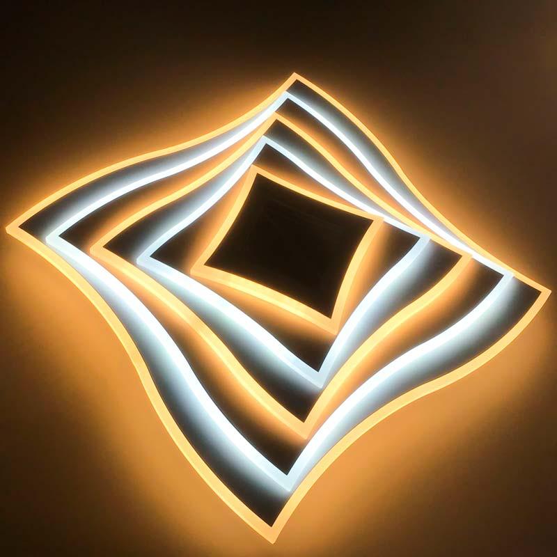 Люстра геометрия изгибы 3D фото