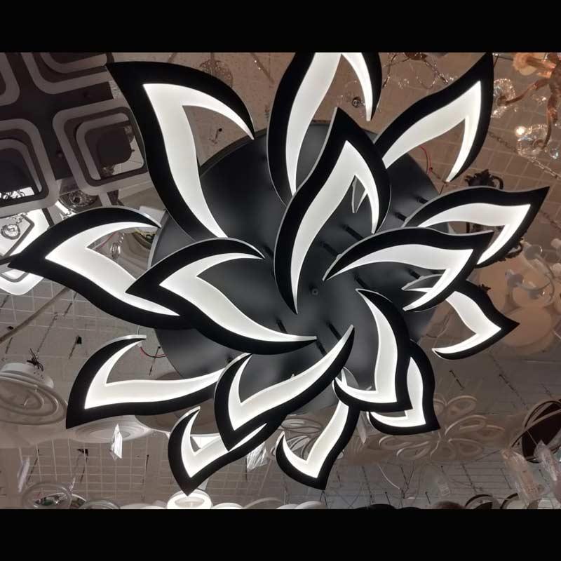 Люстра лед arrows-15 черная фото