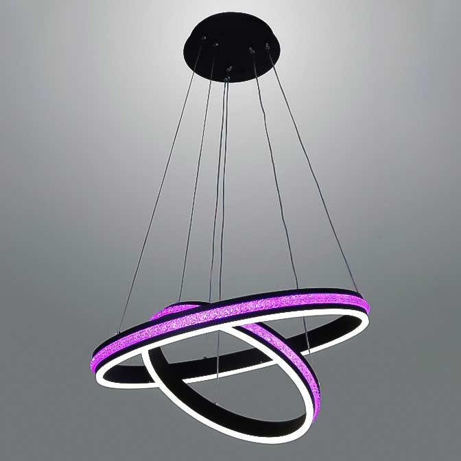 Люстра LED purple-rings фото 1