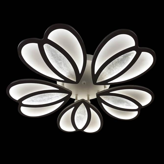 Люстра потолочная цветок светодиодный с пультом фото