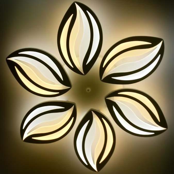 Люстра LED в форме цветка фото