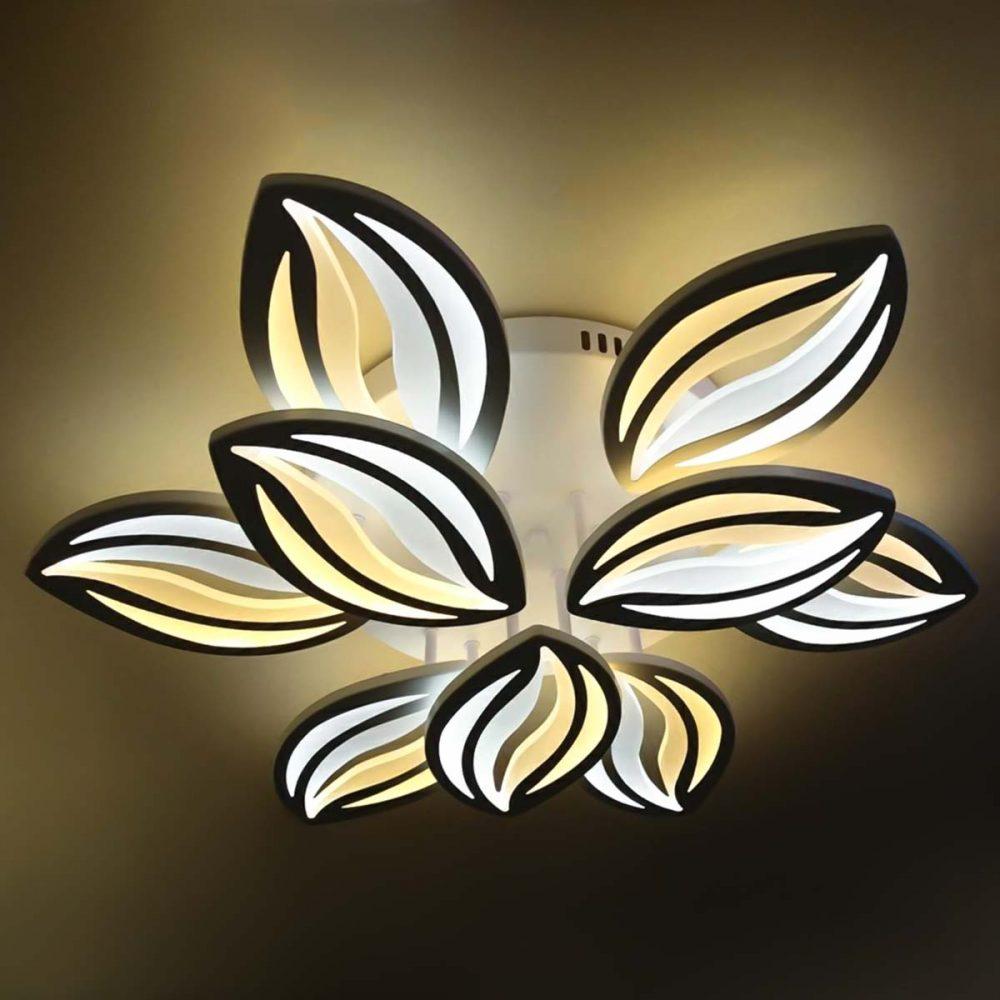 Люстра светодиодная цветок с пультом управления фото