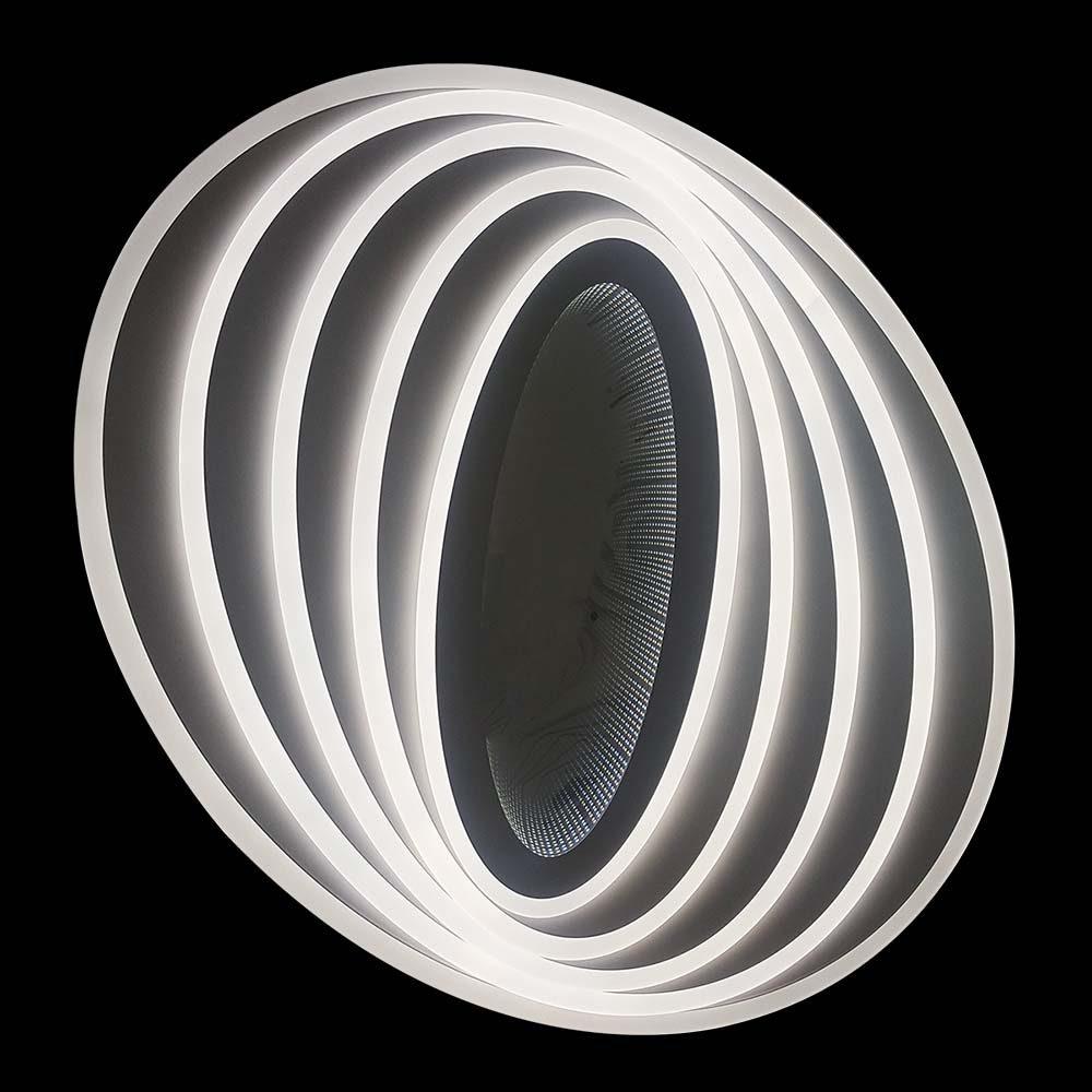 овальная светодиодная люстра на пульте фото