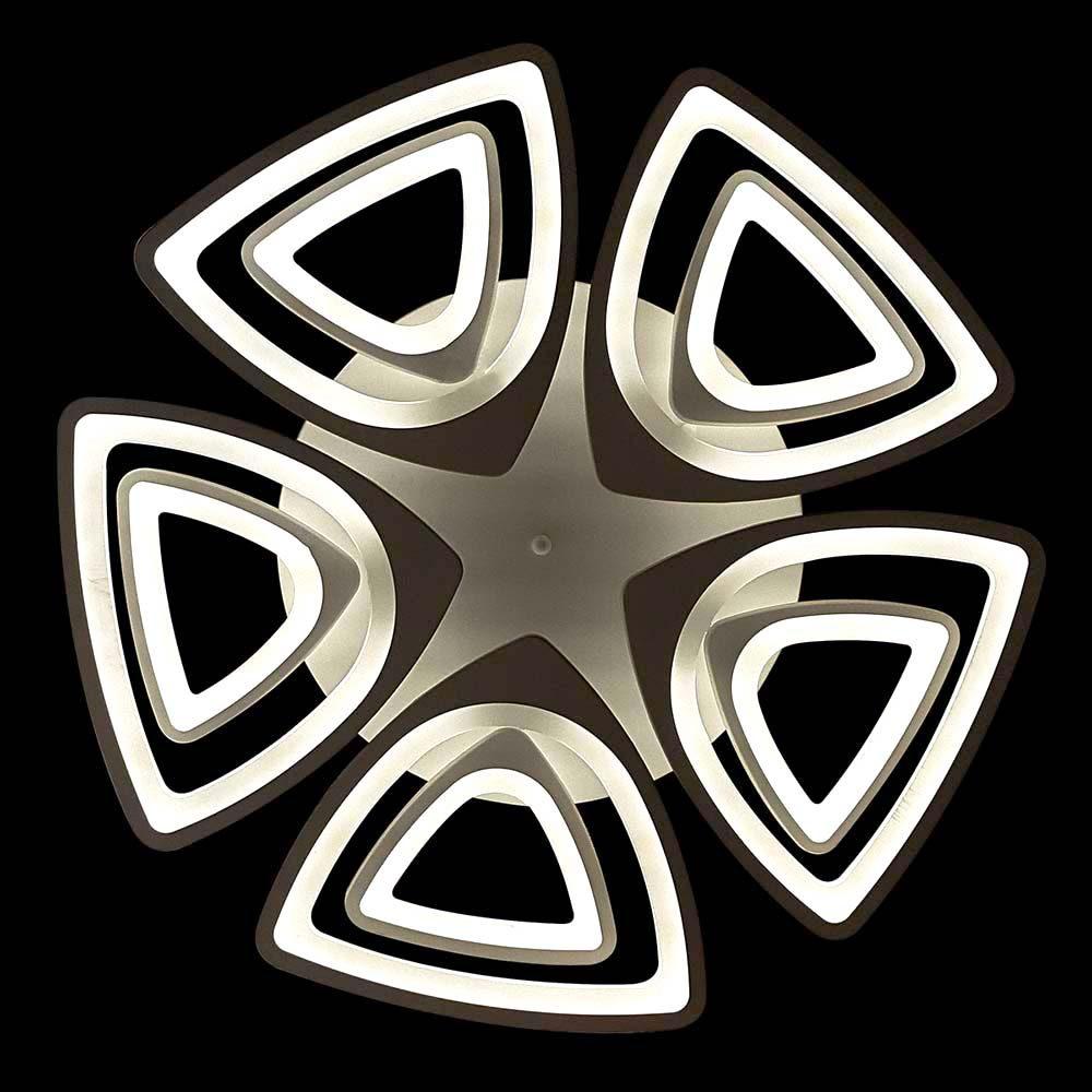 светодиодная треугольная люстра с пультом фото