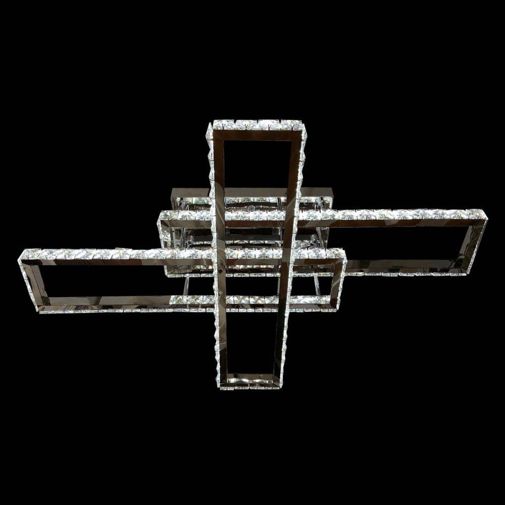 Cветодиодная люстра хрустальные прямоугольники Diamonds фото