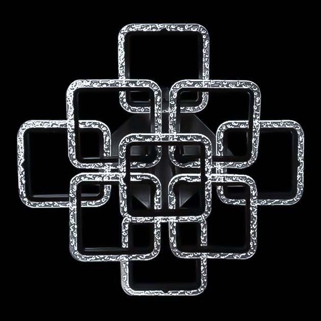 Диодная люстра потолочная с пультом квадраты GlassSquare-10 фото