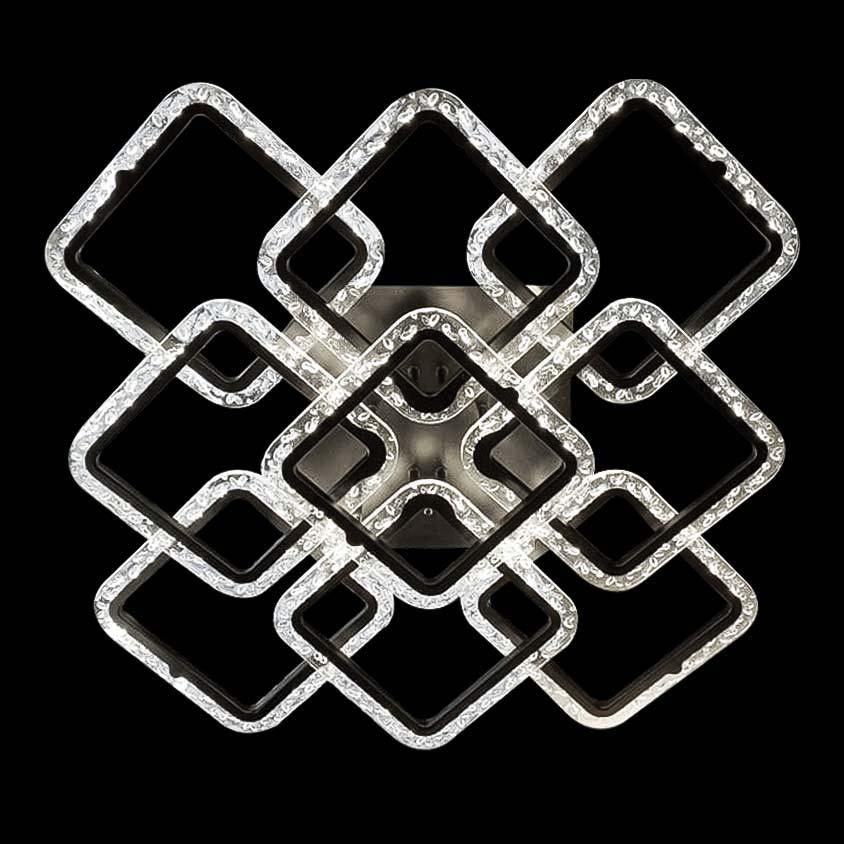 Диодная потолочная люстра GlassSquare-9 фото