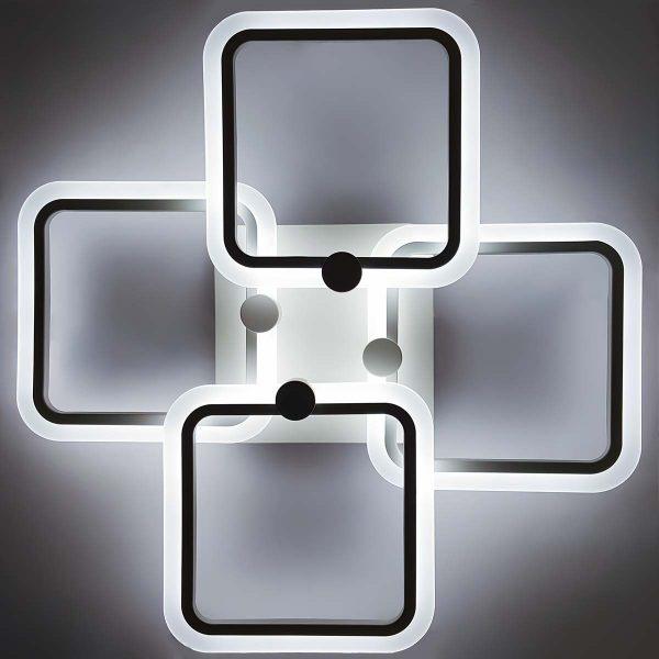 диодный светильник потолочный в виде квадратов фото