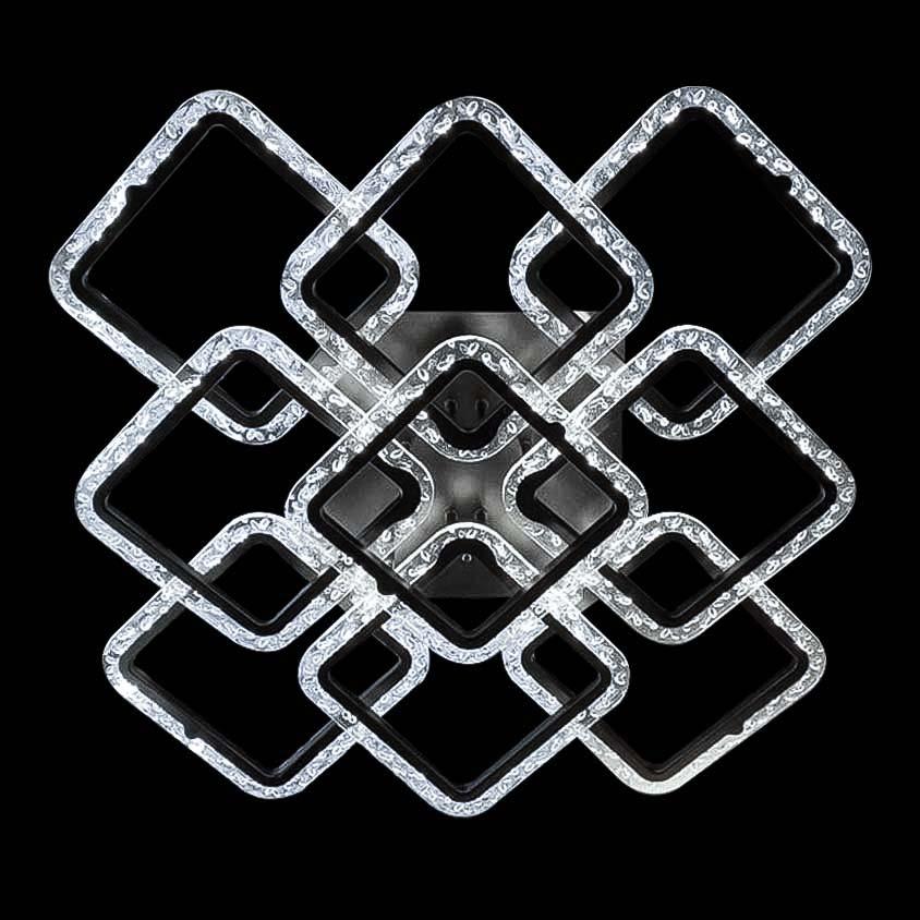 Лед люстра потолочная девять квадратов фото