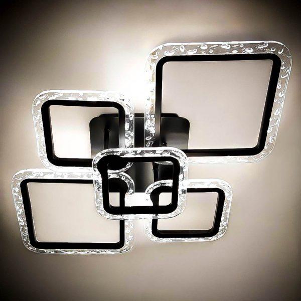 Люстра лед потолочная стеклянные квадраты GlassSquare фото