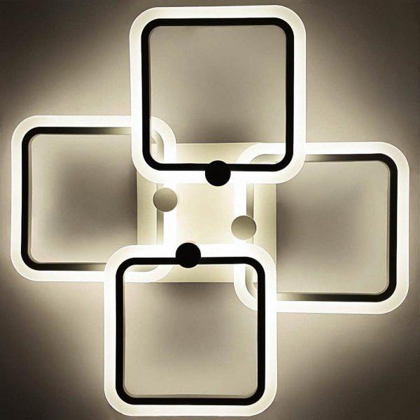 Люстра светодиодная геометрия квадраты с пультом Vertex фото