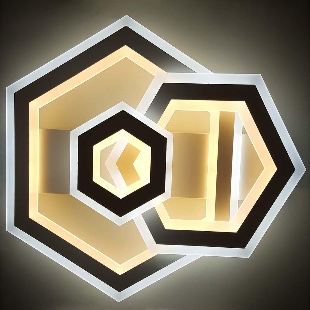 Люстра потолочная геометрия светодиодная Corners фото