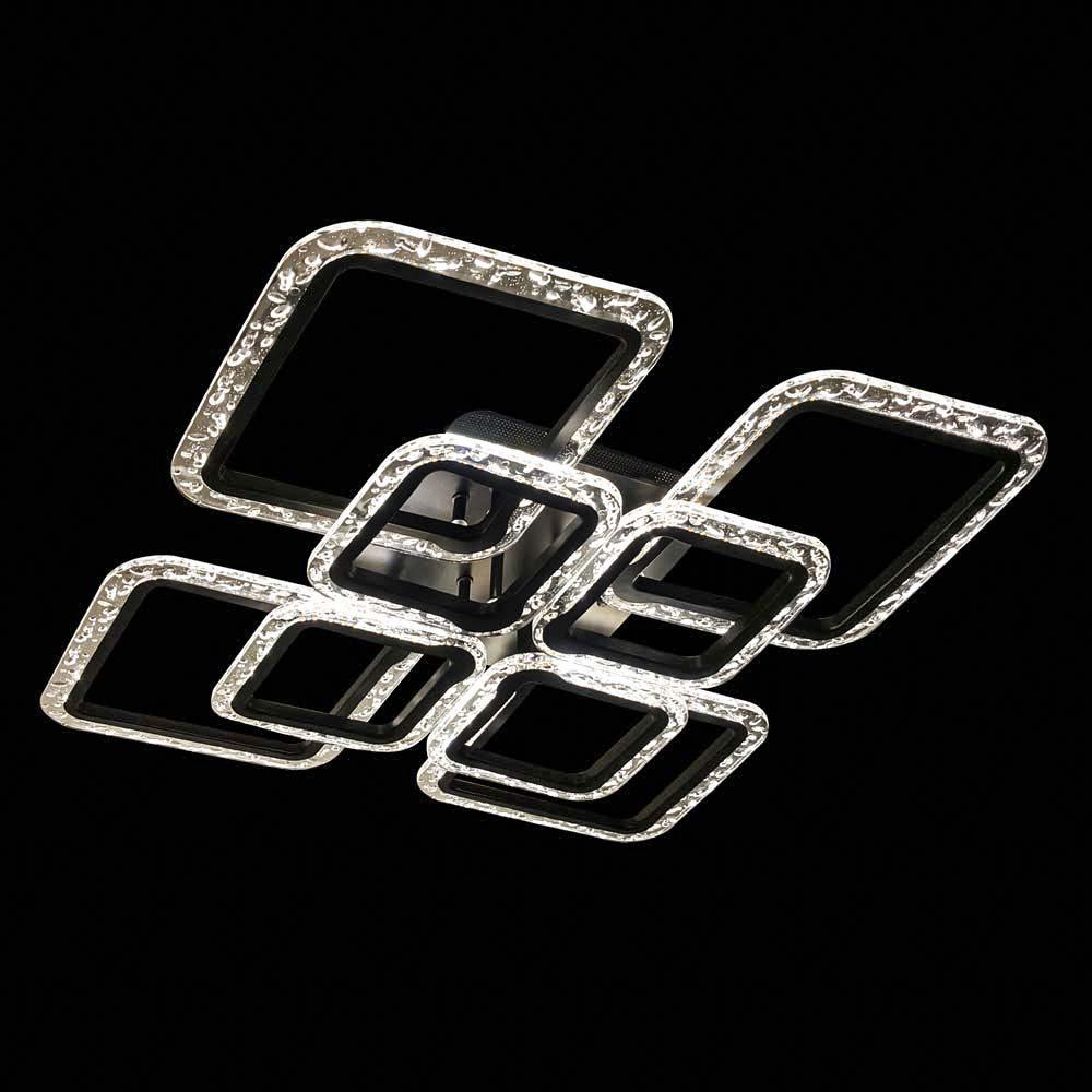 Люстра с пультом квадраты меняющая цвет GlassSquare-8 фото