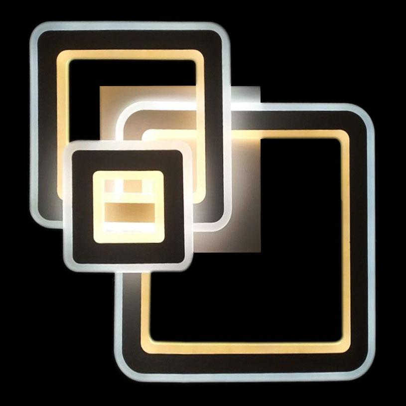 Потолочная светодиодная люстра прямоугольная Quantum фото