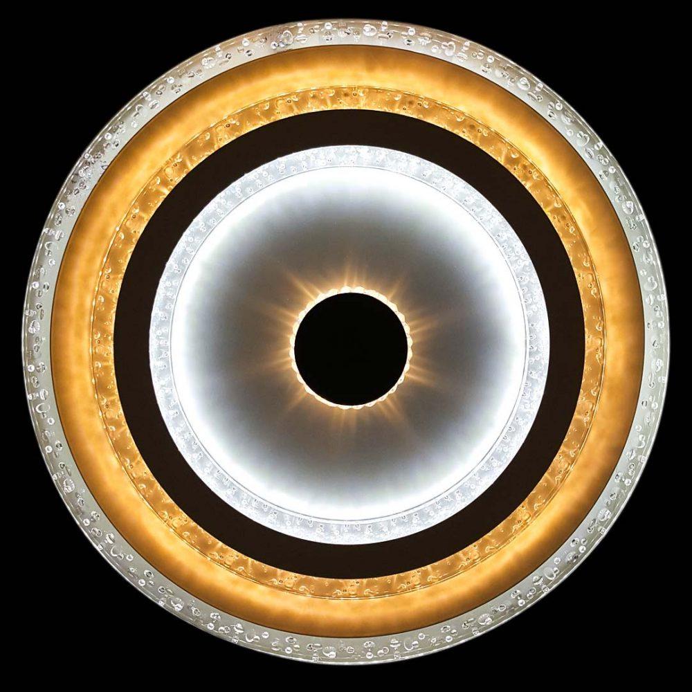 Светодиодная люстра с пультом Солнце фото