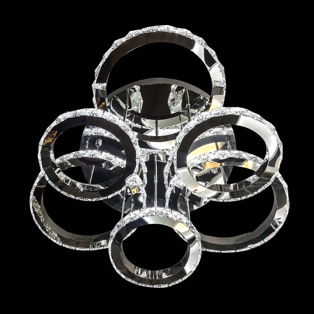 Cветодиодная люстра круги хрустальные Crystal Сircles фото