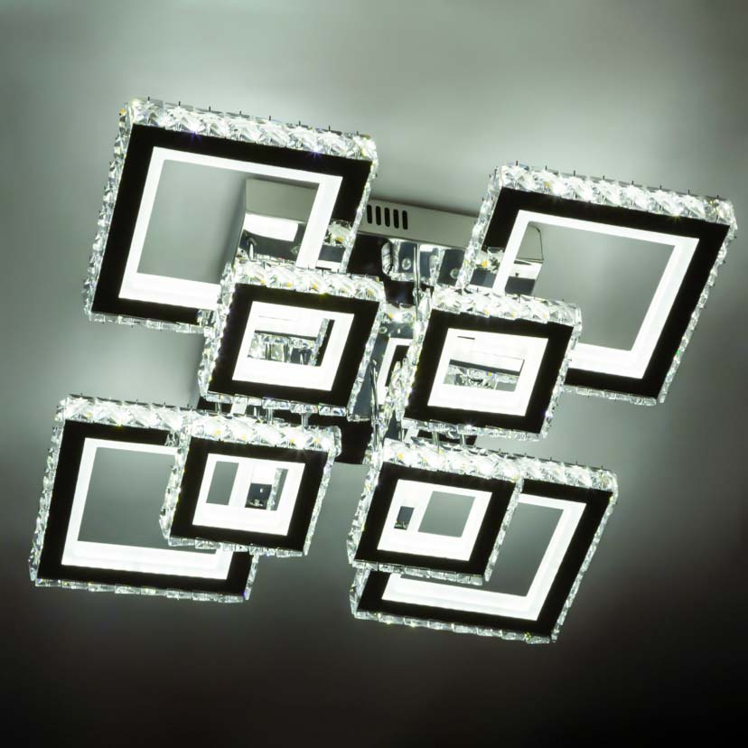 Лед люстра 8 квадратов хрусталь Crystal Square 8 фото