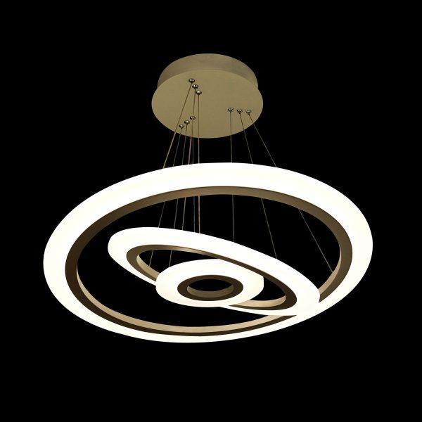 Светодиодная люстра в виде трех дисков фото