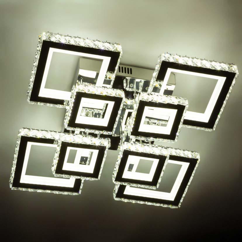 Люстра квадратная хрустальная потолочная фото